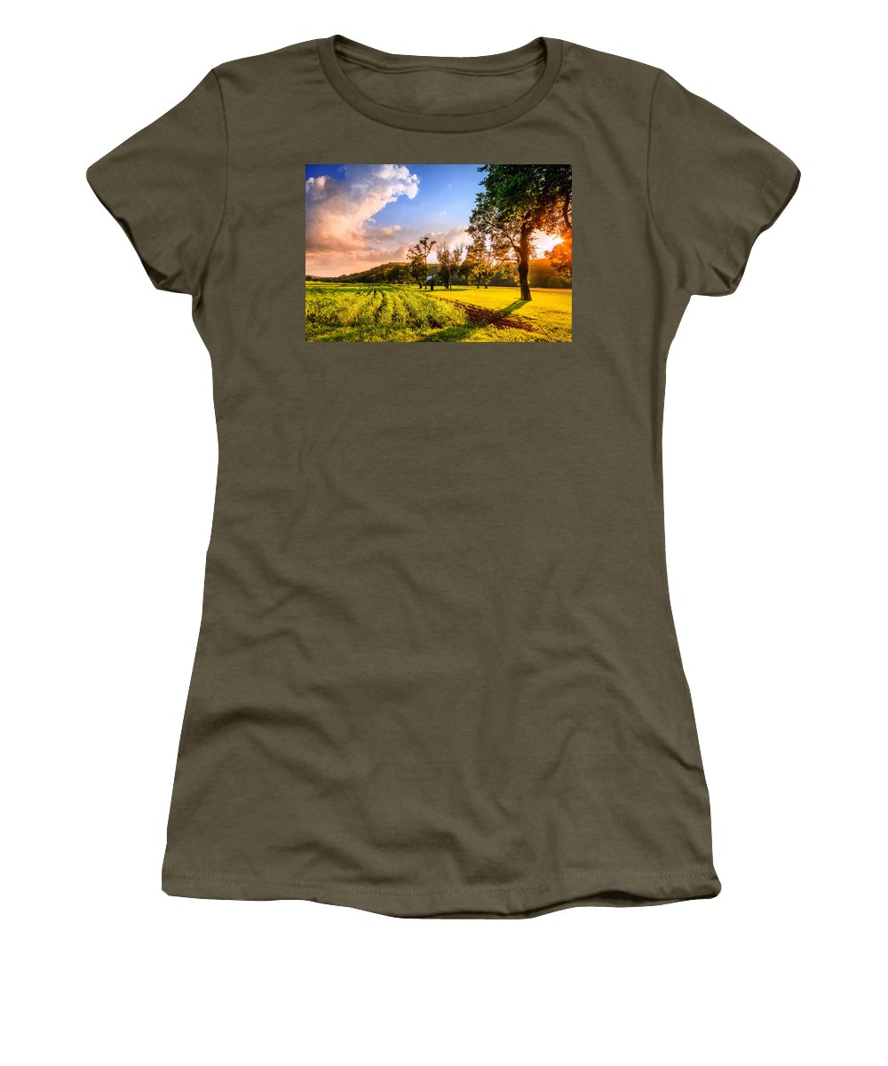 Kentucky Women's T-Shirt (Athletic Fit) featuring the photograph Rural Scene by Alexey Stiop