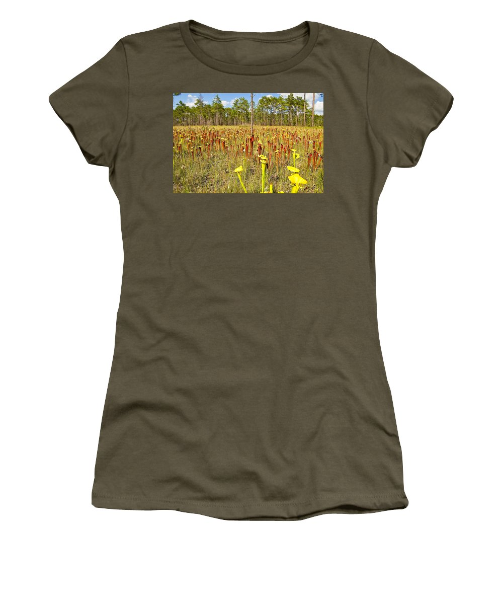 Gulf County Women's T-Shirt featuring the photograph Schnell's Pitcher Plant by Rich Leighton