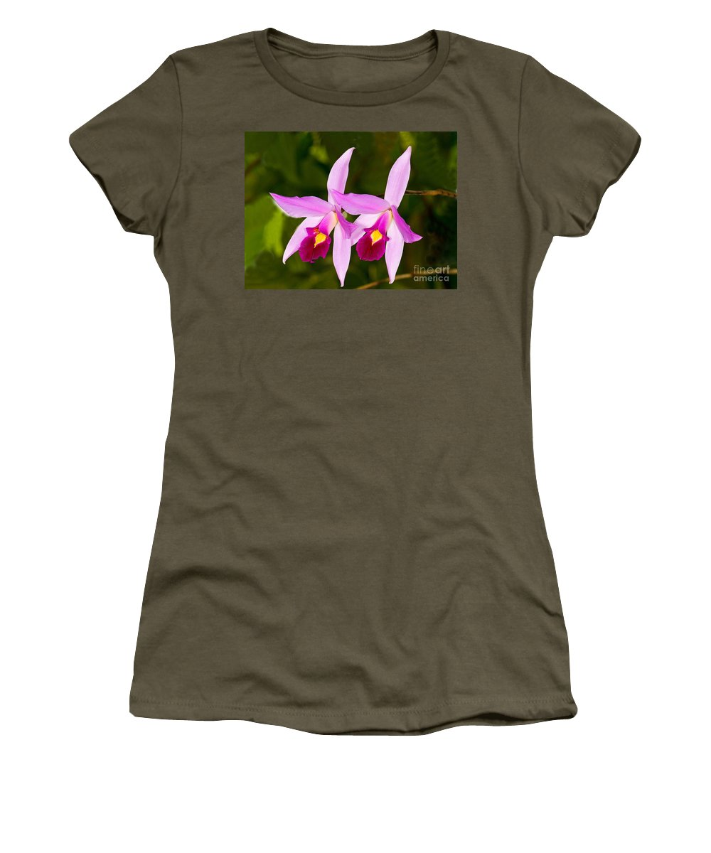 Plant Women's T-Shirt featuring the photograph Sophronitis Orchid by Millard H. Sharp