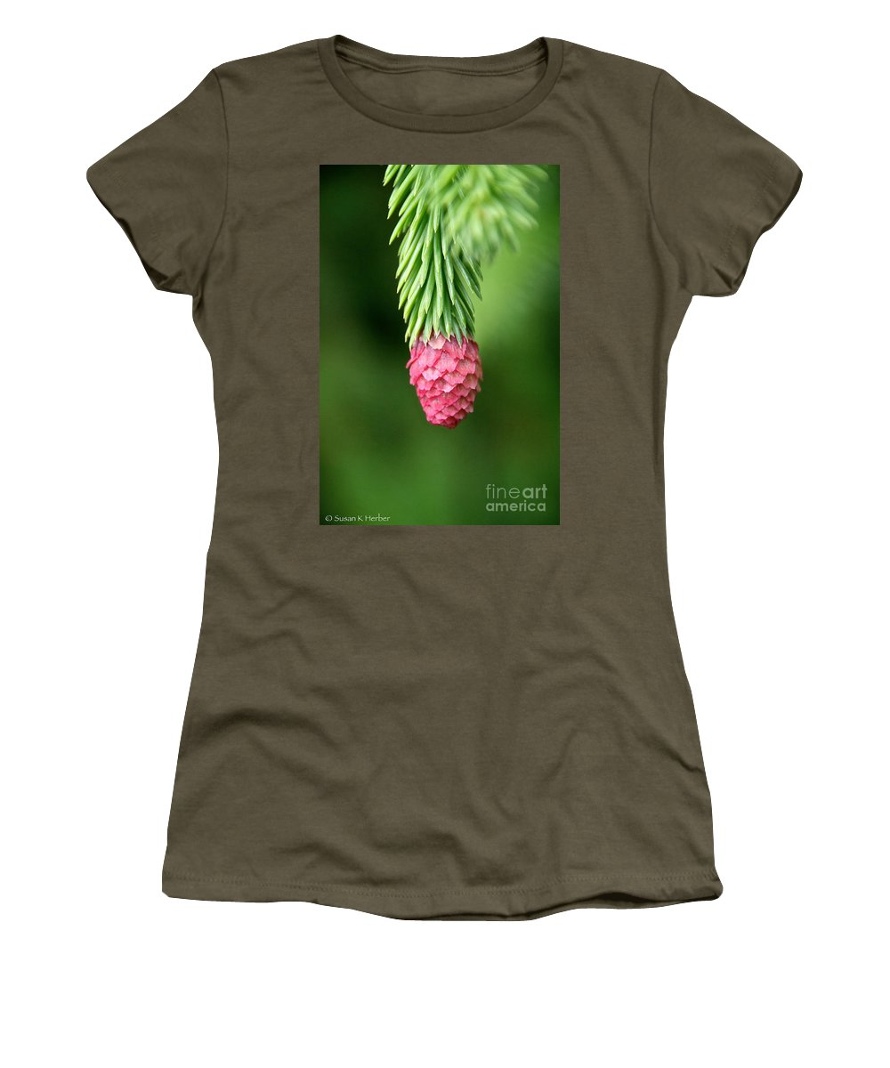 Pine Cone Women's T-Shirt featuring the photograph Splendor by Susan Herber
