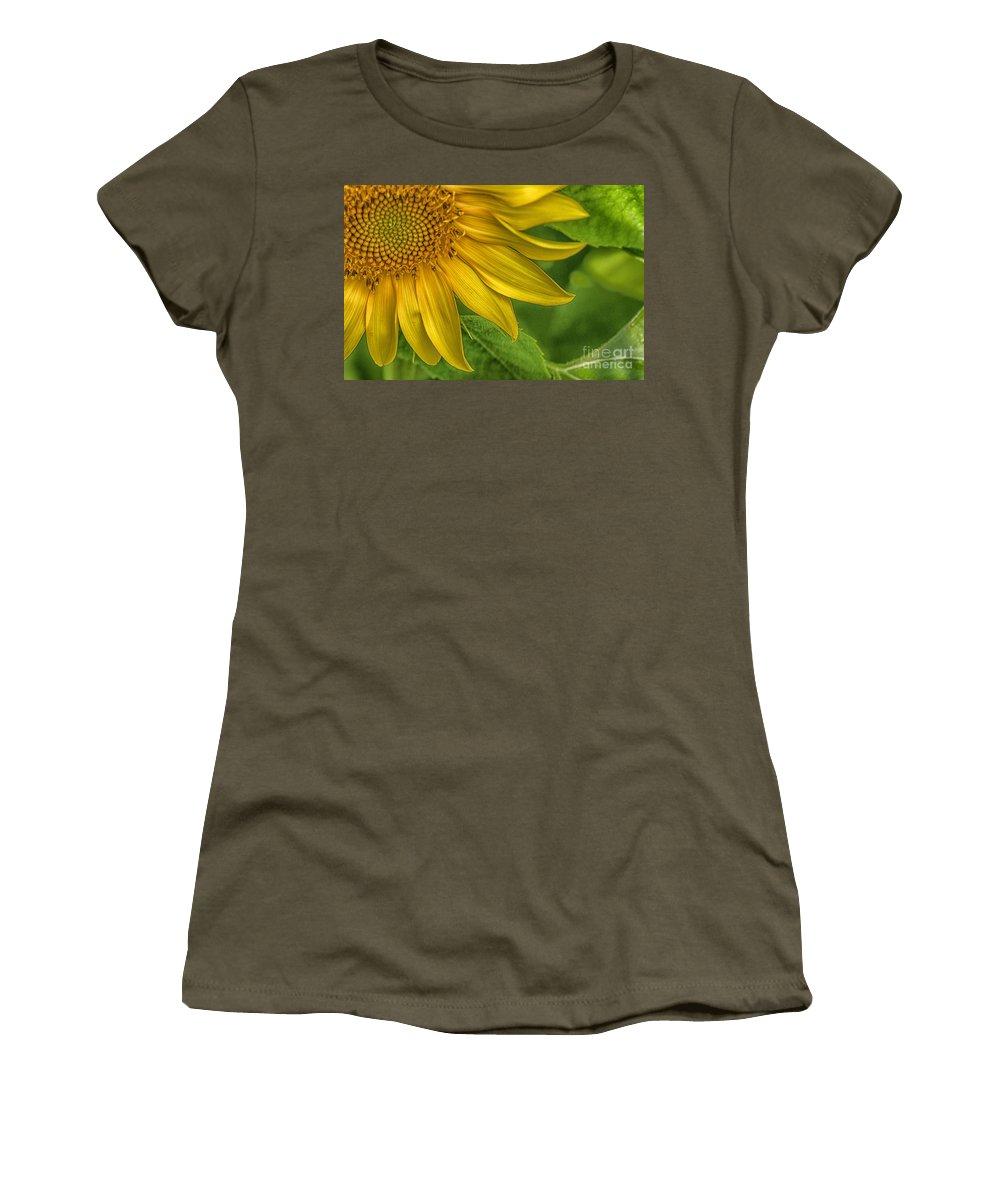Sunflower Women's T-Shirt featuring the photograph Sunflower by Warrena J Barnerd