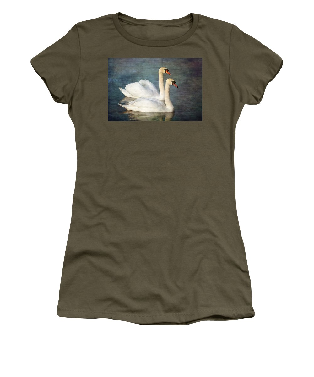 Mute Swan Women's T-Shirt featuring the photograph Swan by Chris Smith