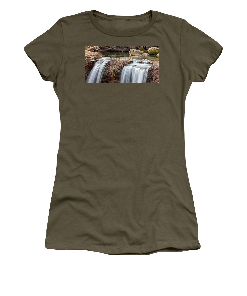 Glen Women's T-Shirt featuring the photograph The Fairy Pools by David Pringle