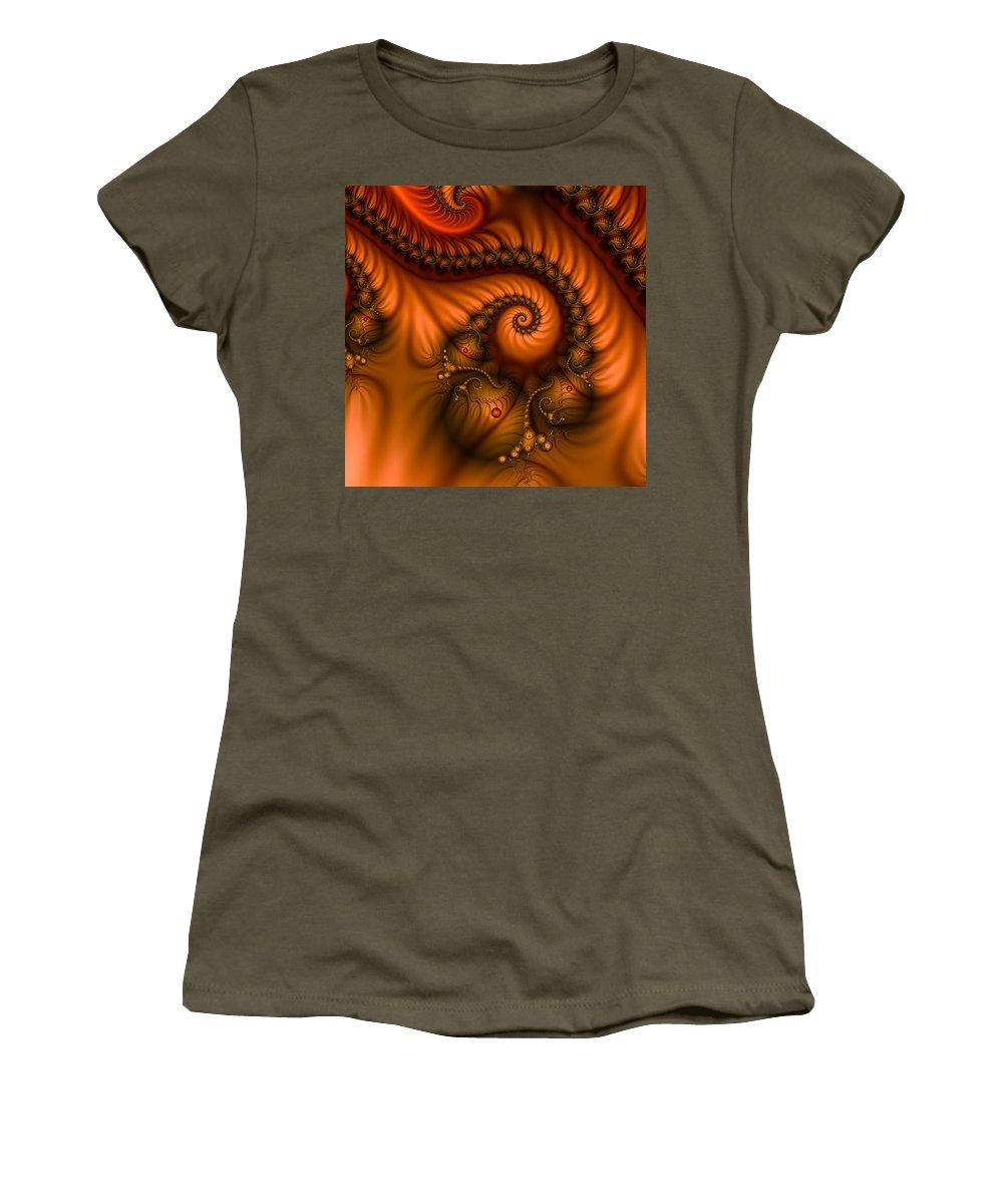Fractal Women's T-Shirt featuring the digital art Warmth by Gabiw Art
