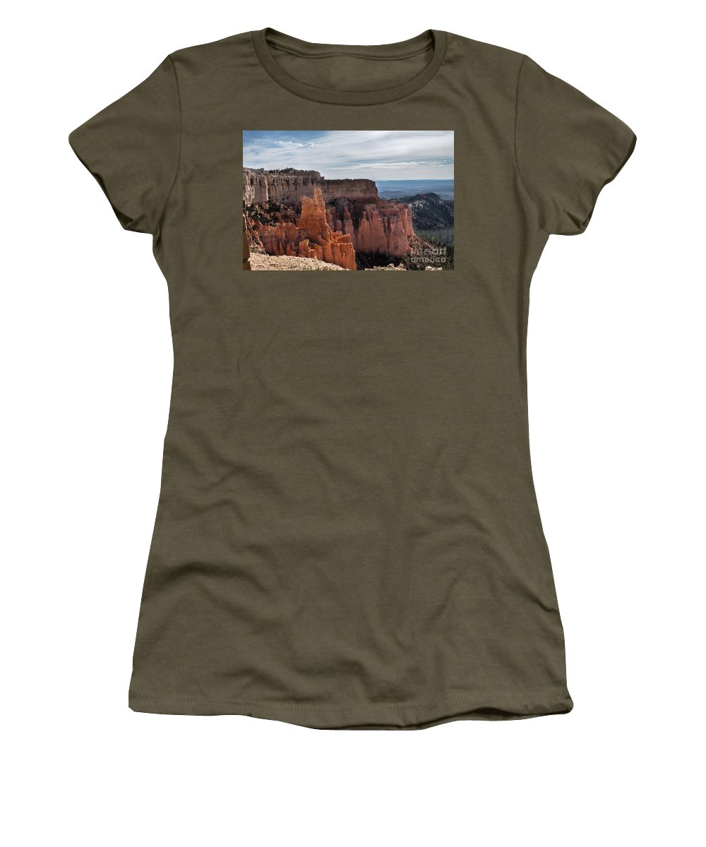 Brown Women's T-Shirt (Athletic Fit) featuring the photograph Weathered By Time by Rich Priest