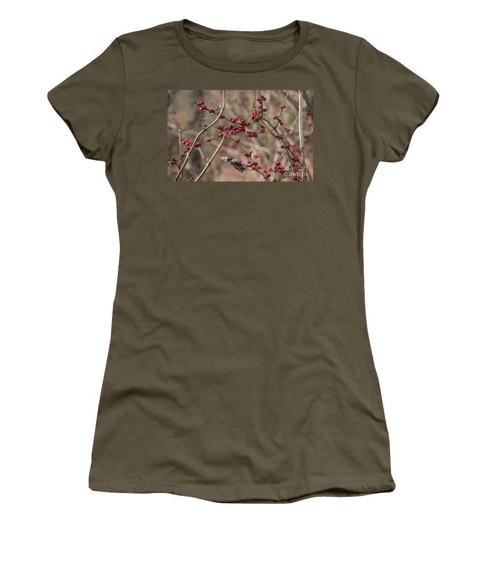 Winterberry Women's T-Shirt featuring the photograph Winterberries by Teresa Mucha