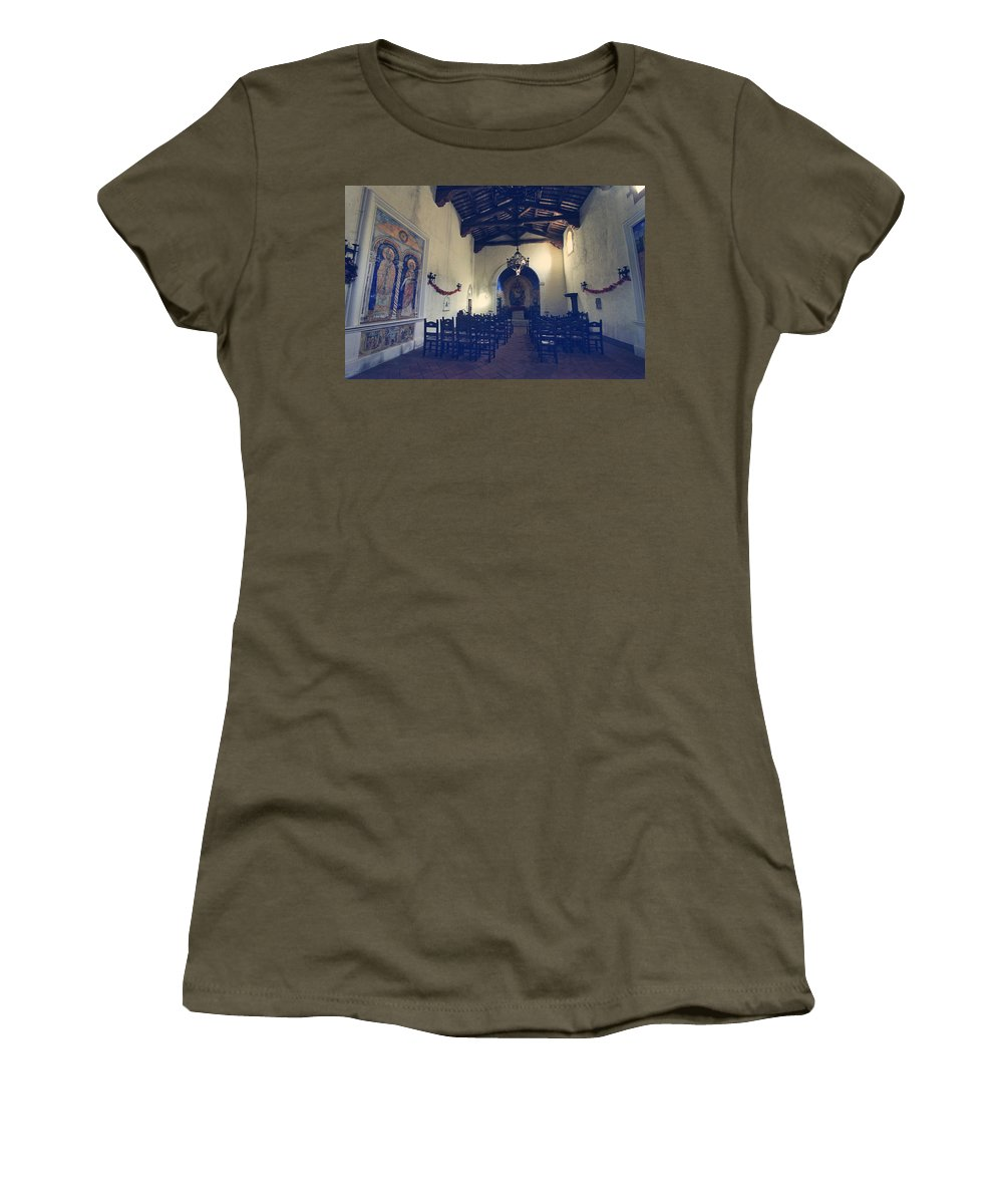 Castello Di Amorosa Women's T-Shirt (Athletic Fit) featuring the photograph Worship by Laurie Search