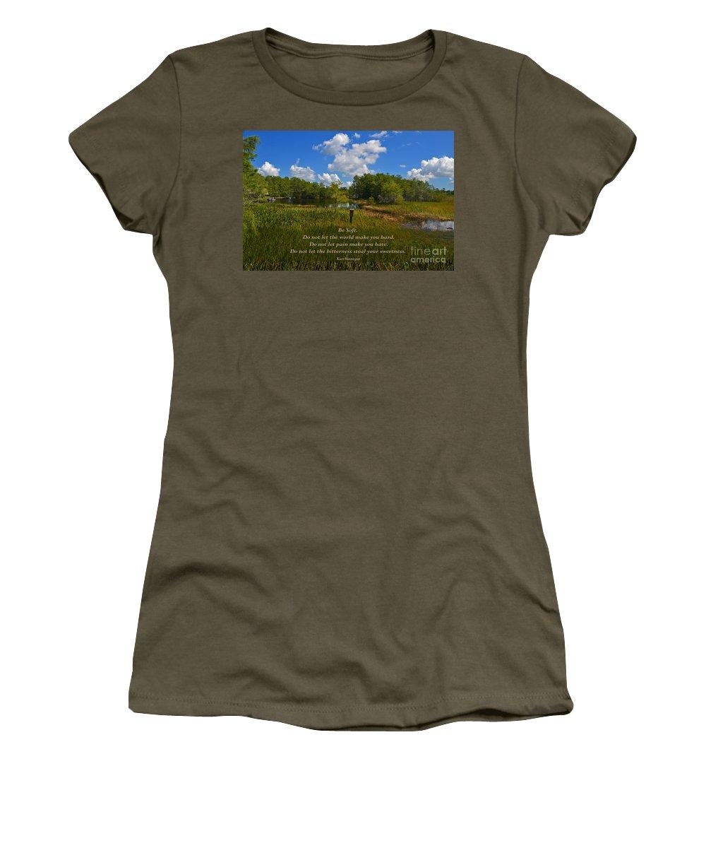 Kurt Vonnegut Women's T-Shirt featuring the photograph 109- Kurt Vonnegut by Joseph Keane