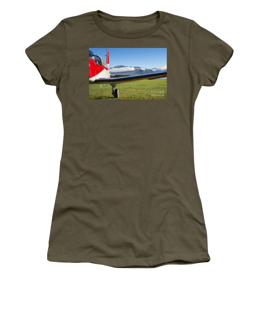 Airplane Women's T-Shirt featuring the photograph Airplane by Mats Silvan