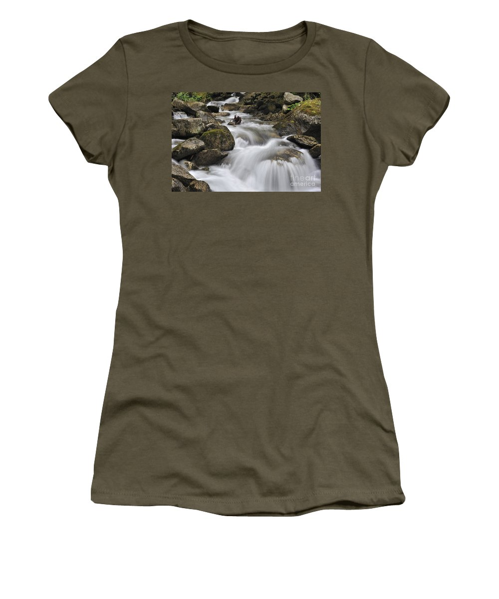 Mountain Brook Women's T-Shirt featuring the photograph 110414p104 by Arterra Picture Library