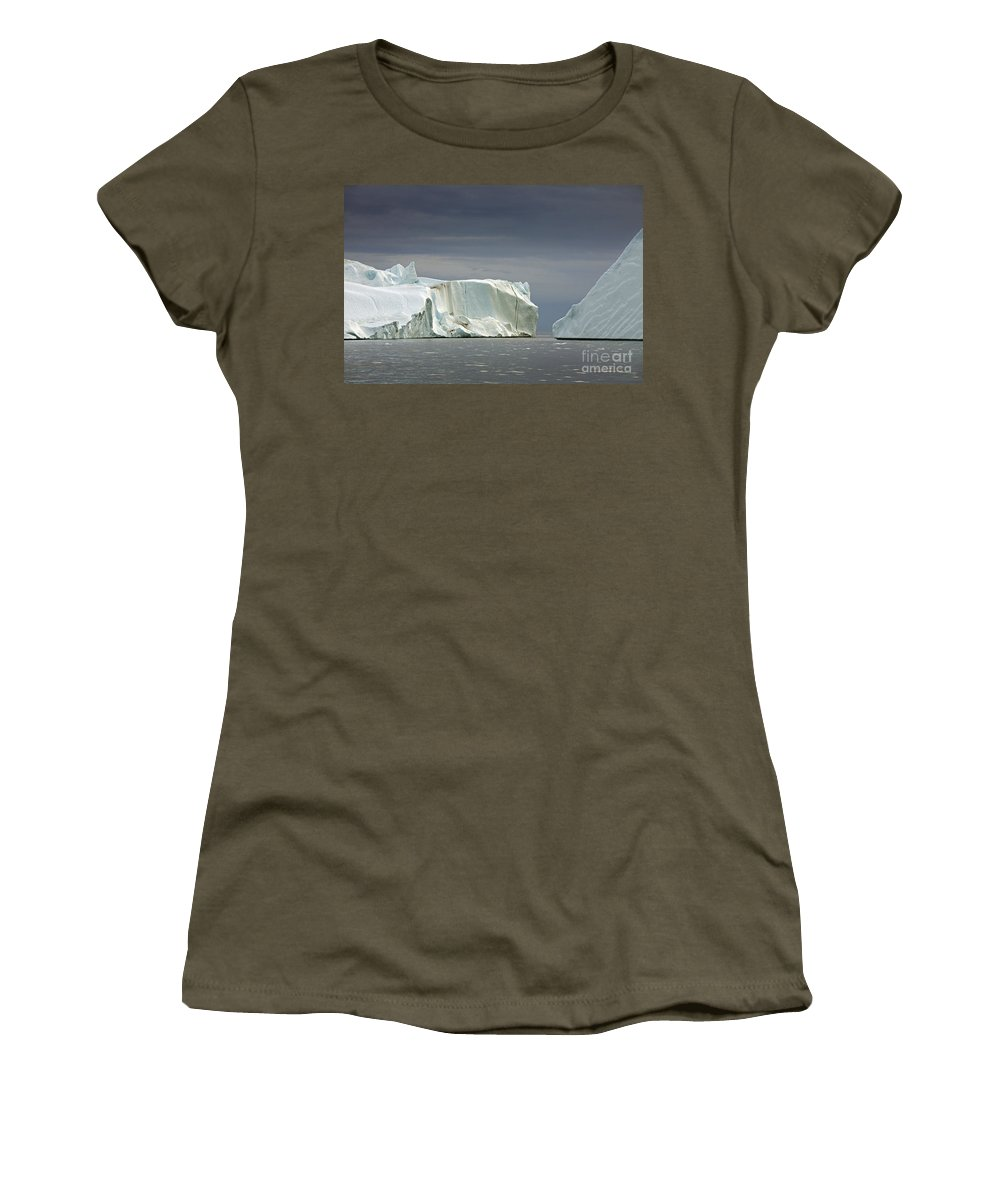 Iceberg Women's T-Shirt featuring the photograph 110506p052 by Arterra Picture Library