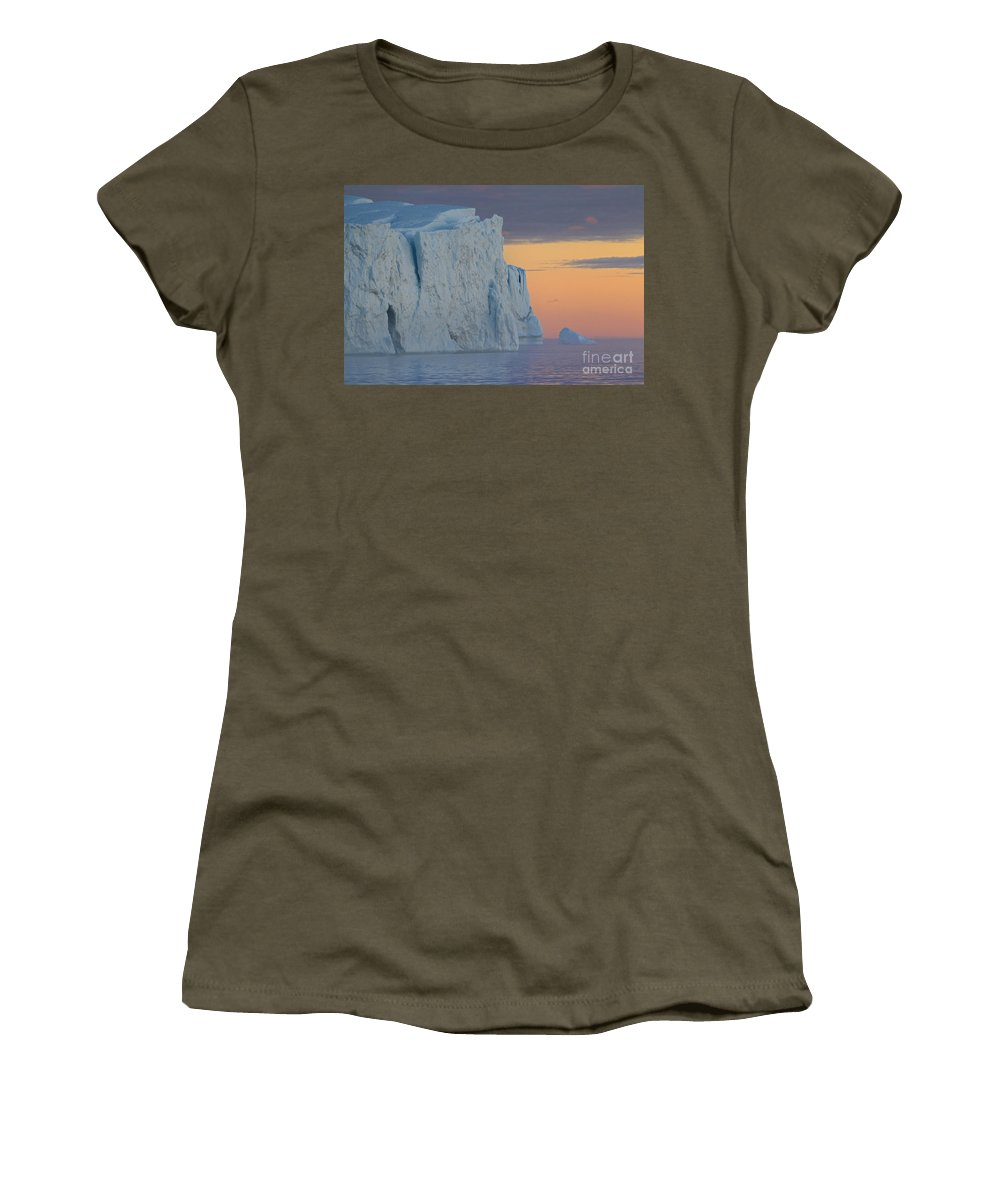 Iceberg Women's T-Shirt featuring the photograph 110613p175 by Arterra Picture Library