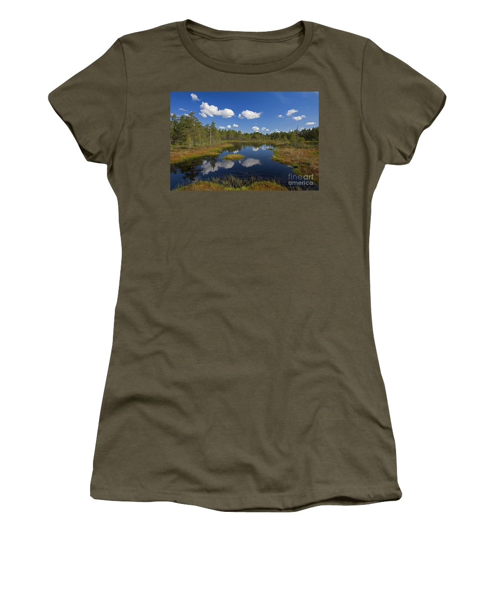 Moorland Women's T-Shirt featuring the photograph 110613p187 by Arterra Picture Library