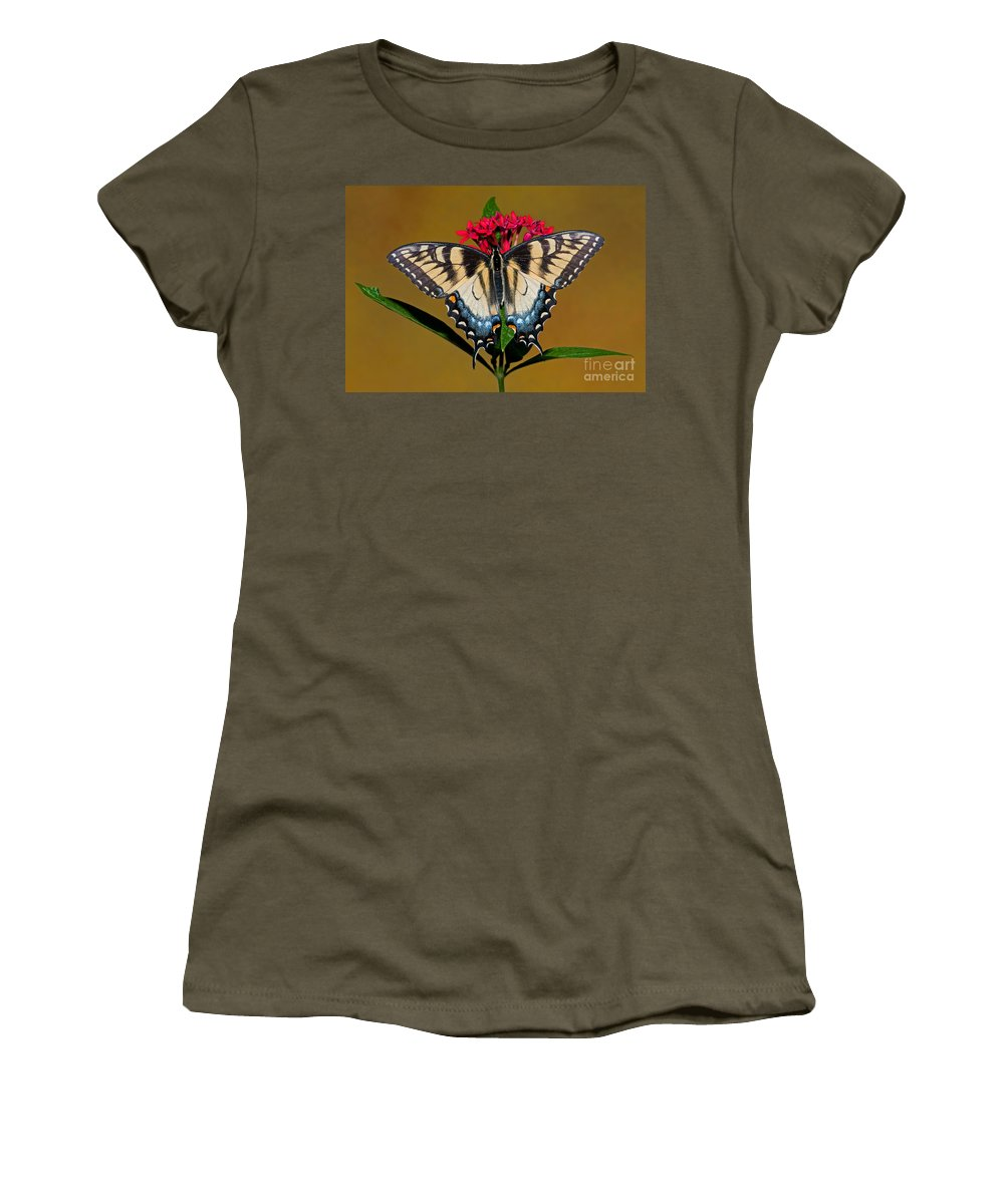 Animal Women's T-Shirt featuring the photograph Eastern Tiger Swallowtail Butterfly by Millard H. Sharp