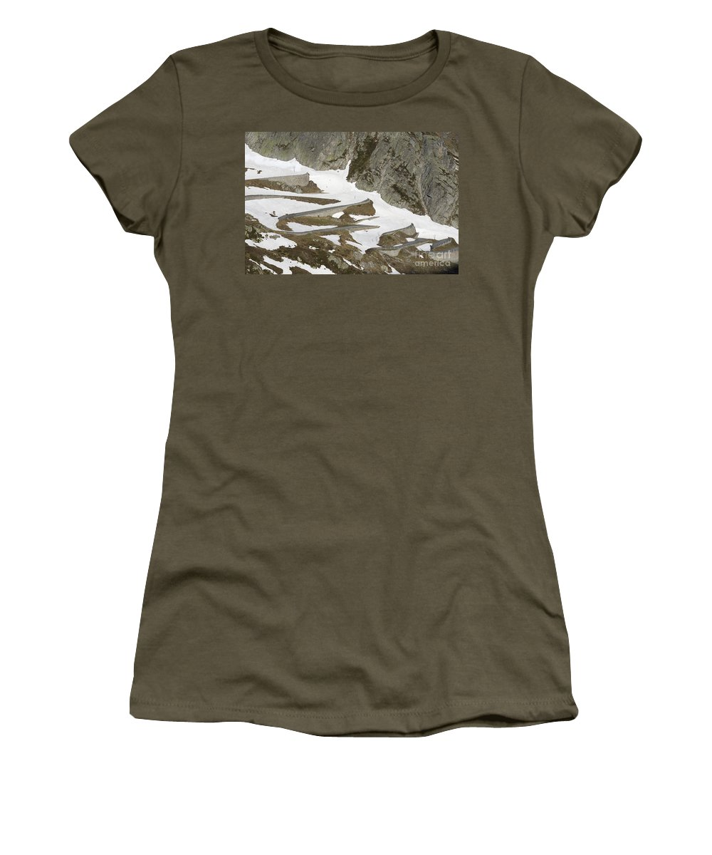 Mountain Road Women's T-Shirt featuring the photograph Mountain Road by Mats Silvan