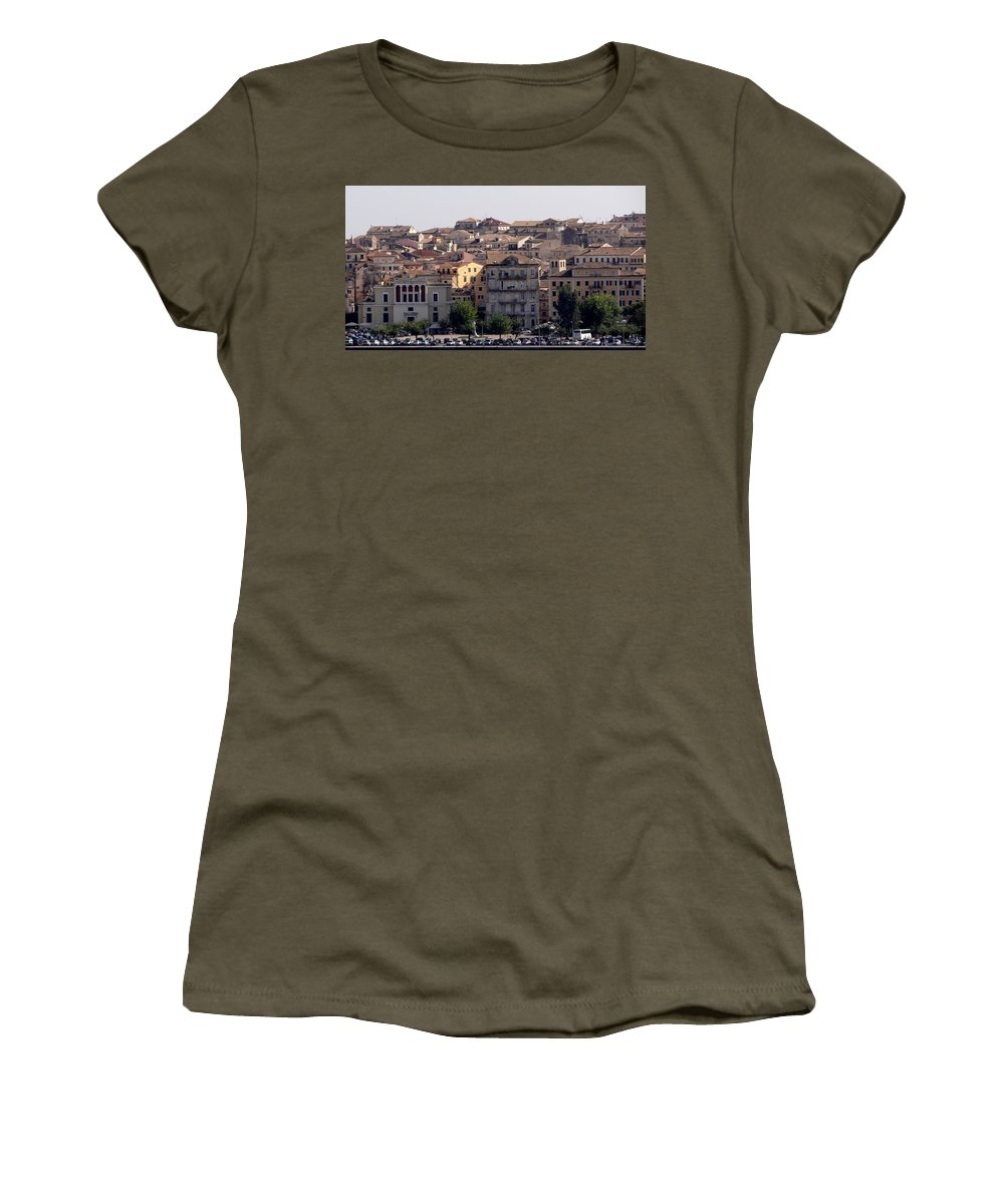 Corfu Women's T-Shirt featuring the photograph Views From Corfu Greece by Richard Rosenshein