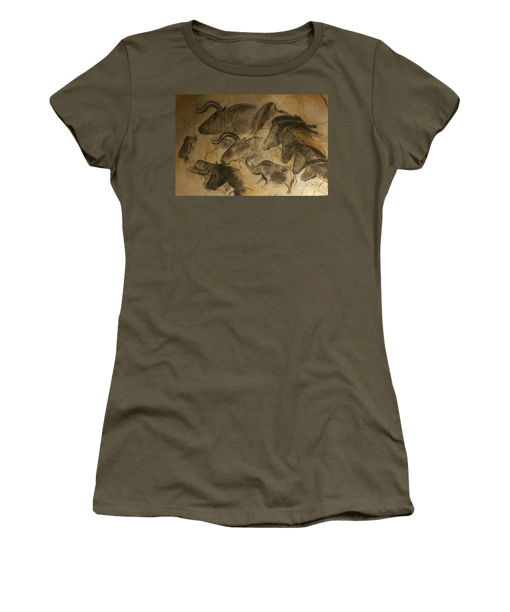 Chauvet Women's T-Shirt featuring the photograph 131018p051 by Arterra Picture Library