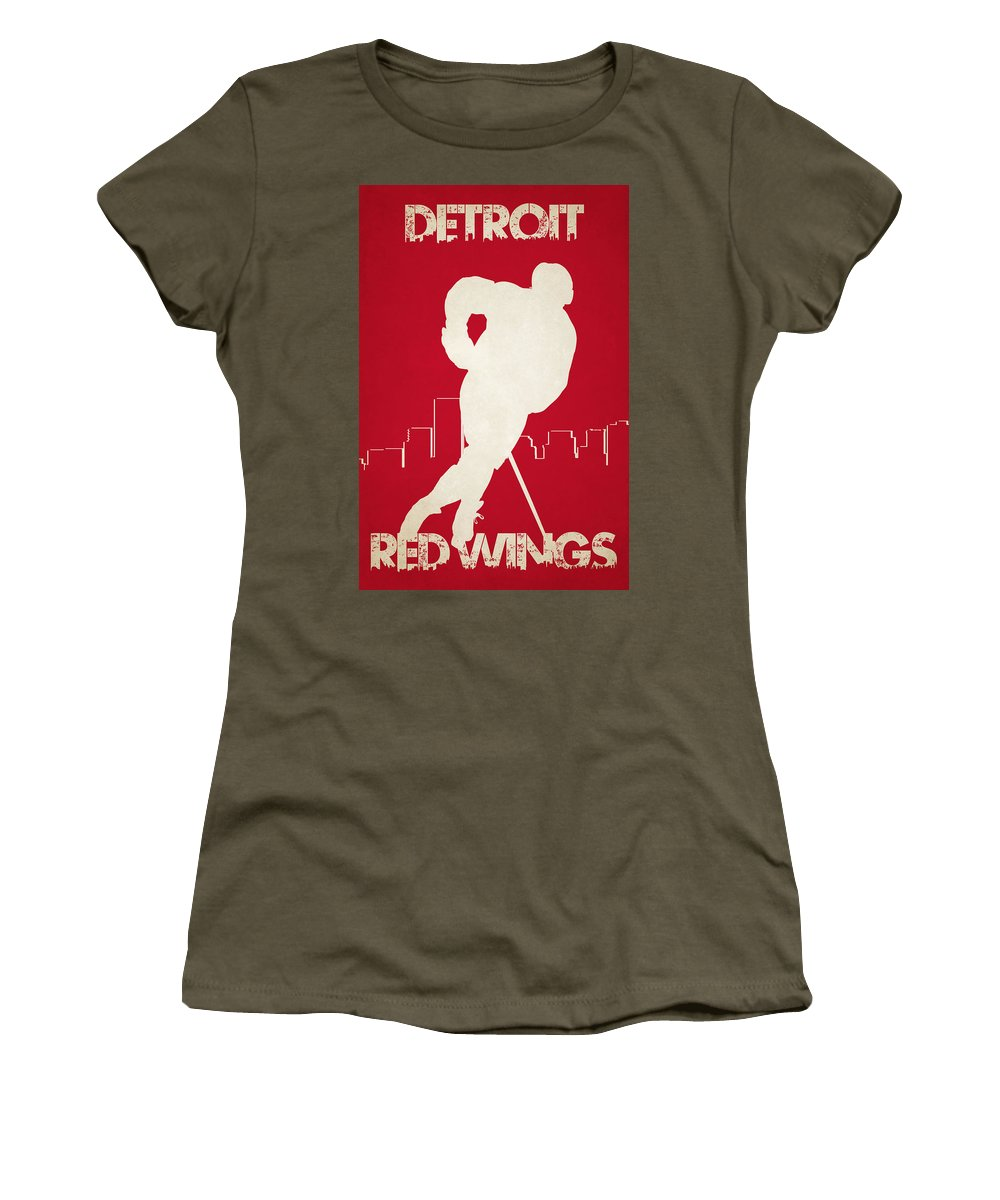 Red Wings Women's T-Shirt featuring the photograph Detroit Red Wings by Joe Hamilton