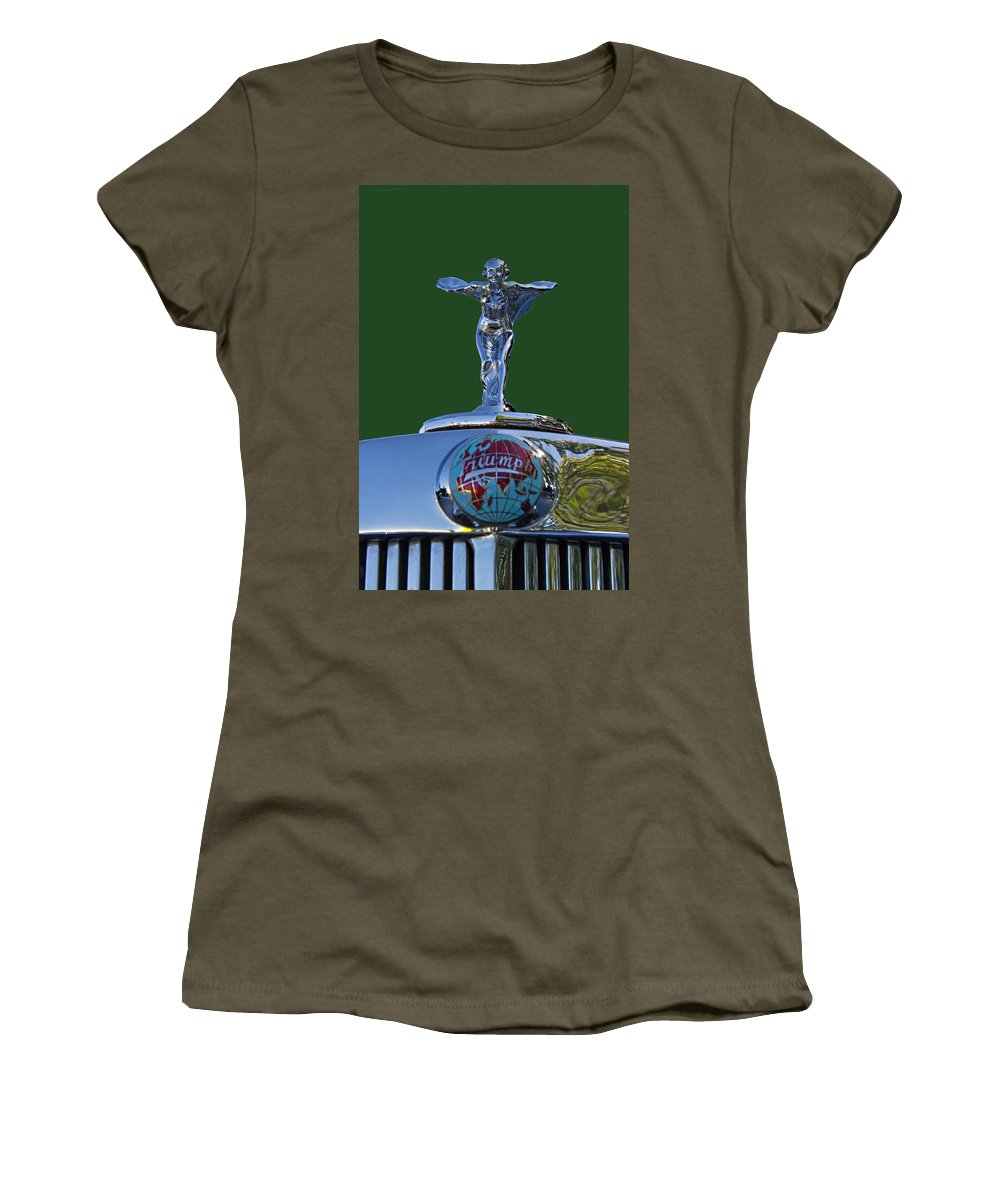 1948 Women's T-Shirt featuring the photograph 1948 Triumph by Nick Gray