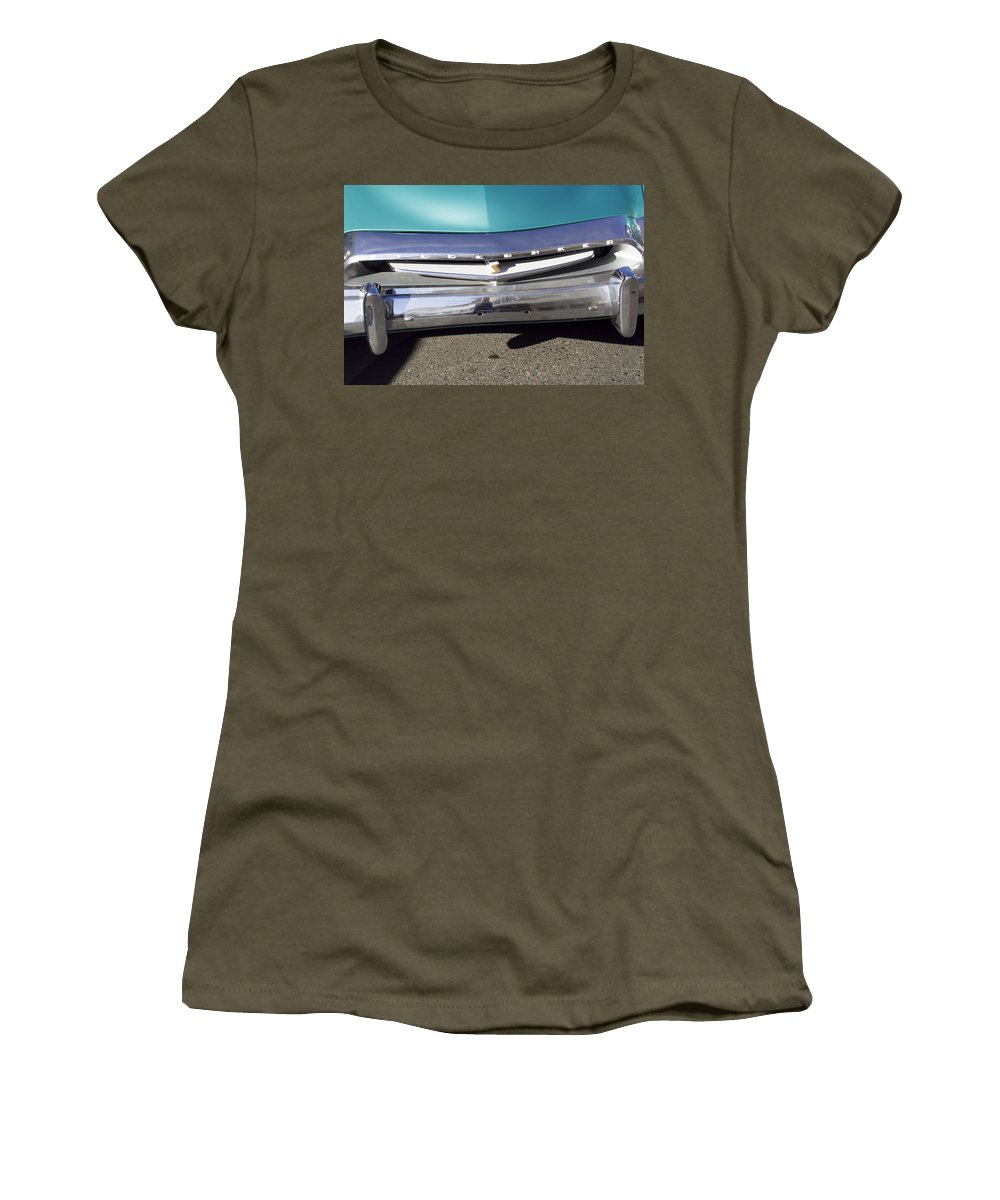 1955 Studebaker Coupe Women's T-Shirt featuring the photograph 1955 Studebaker Coupe 2 by Cathy Anderson