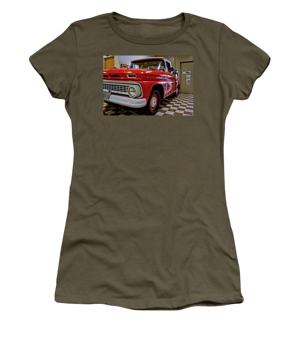 Antique Women's T-Shirt featuring the photograph 1963 Chev Pick Up by Michael Gordon