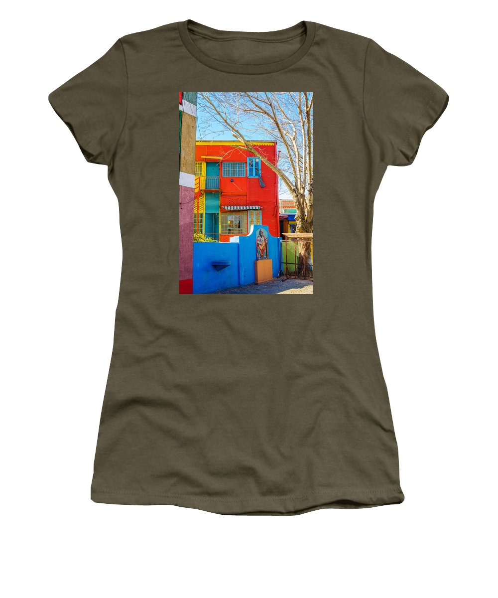 Argentina Women's T-Shirt featuring the photograph Bright Colors In Buenos Aires by Jess Kraft