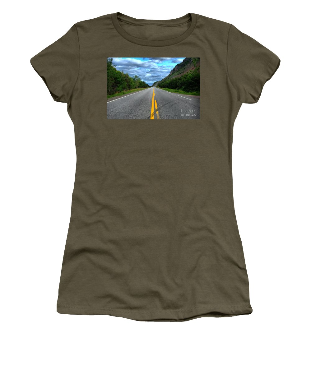 Nova Scotia Women's T-Shirt featuring the photograph Cabot Trail by Joe Ng