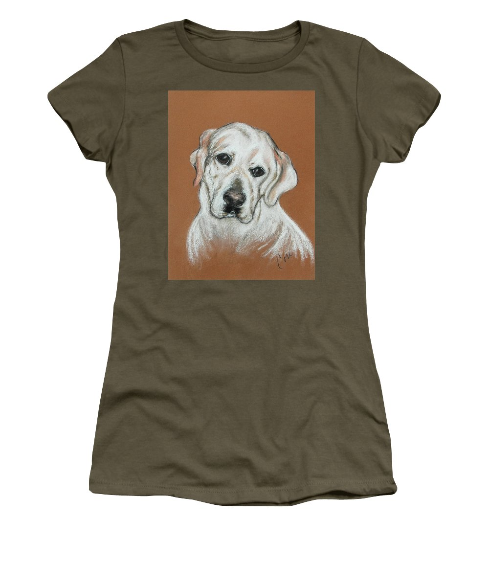 Labrador Women's T-Shirt (Athletic Fit) featuring the drawing Chloe by Cori Solomon