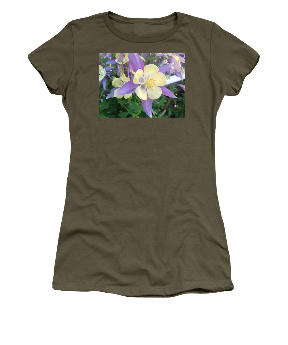 Spring Women's T-Shirt featuring the photograph Columbine by Pema Hou