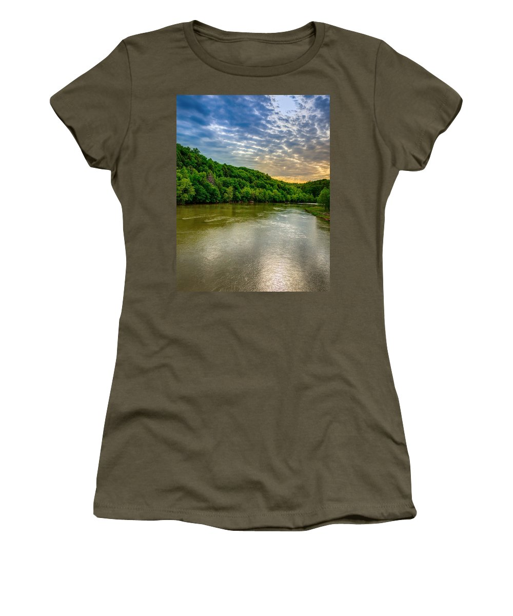 River Women's T-Shirt (Athletic Fit) featuring the photograph Cumberland River by Alexey Stiop