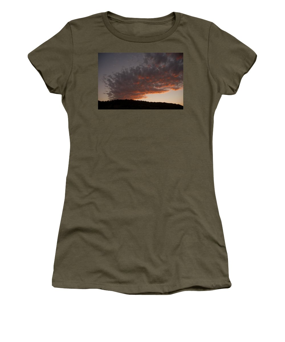 Sunset Women's T-Shirt featuring the photograph Fire In The Sky by Jerry McElroy