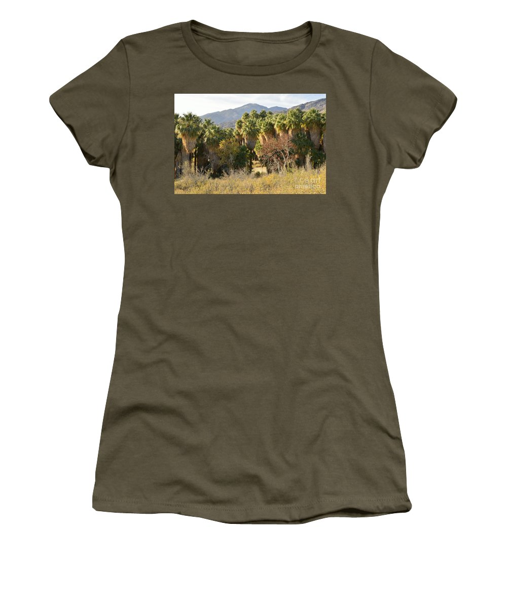 Indian Canyons Women's T-Shirt (Athletic Fit) featuring the photograph Indian Canyons by Yinguo Huang