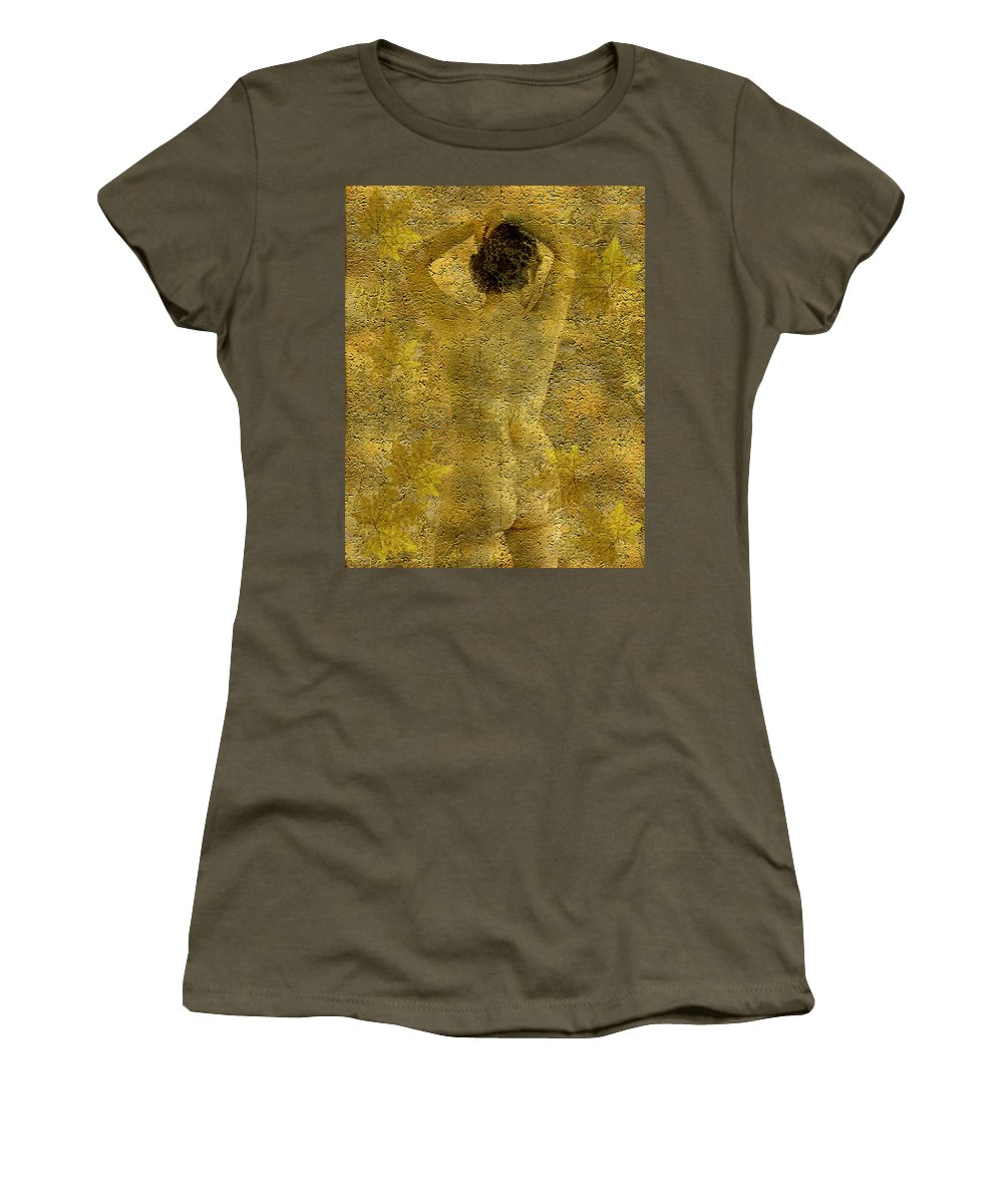 Nudes Women's T-Shirt (Athletic Fit) featuring the photograph Jenni by Kurt Van Wagner