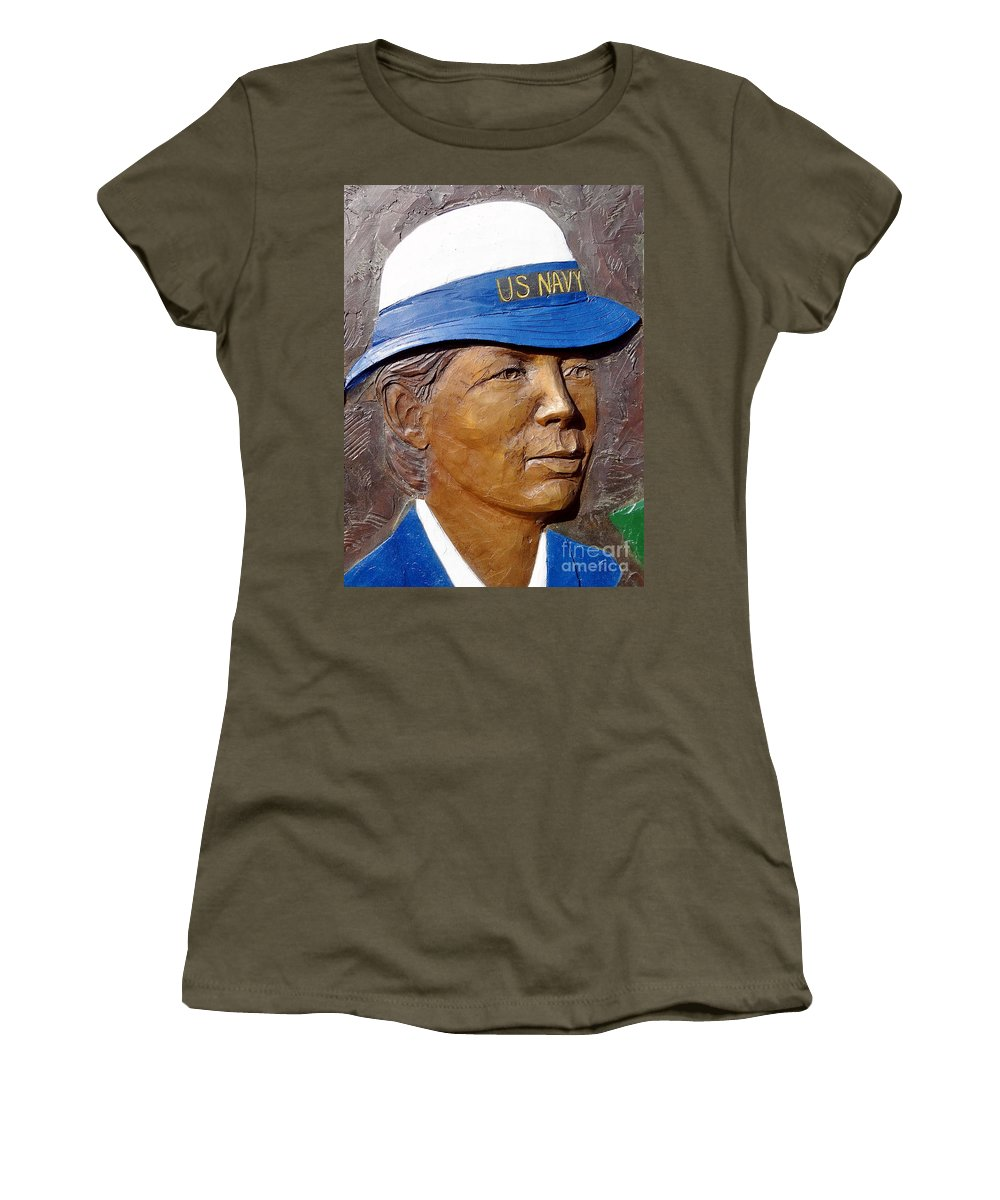 Us Navy Women's T-Shirt featuring the photograph Pride by Ed Weidman
