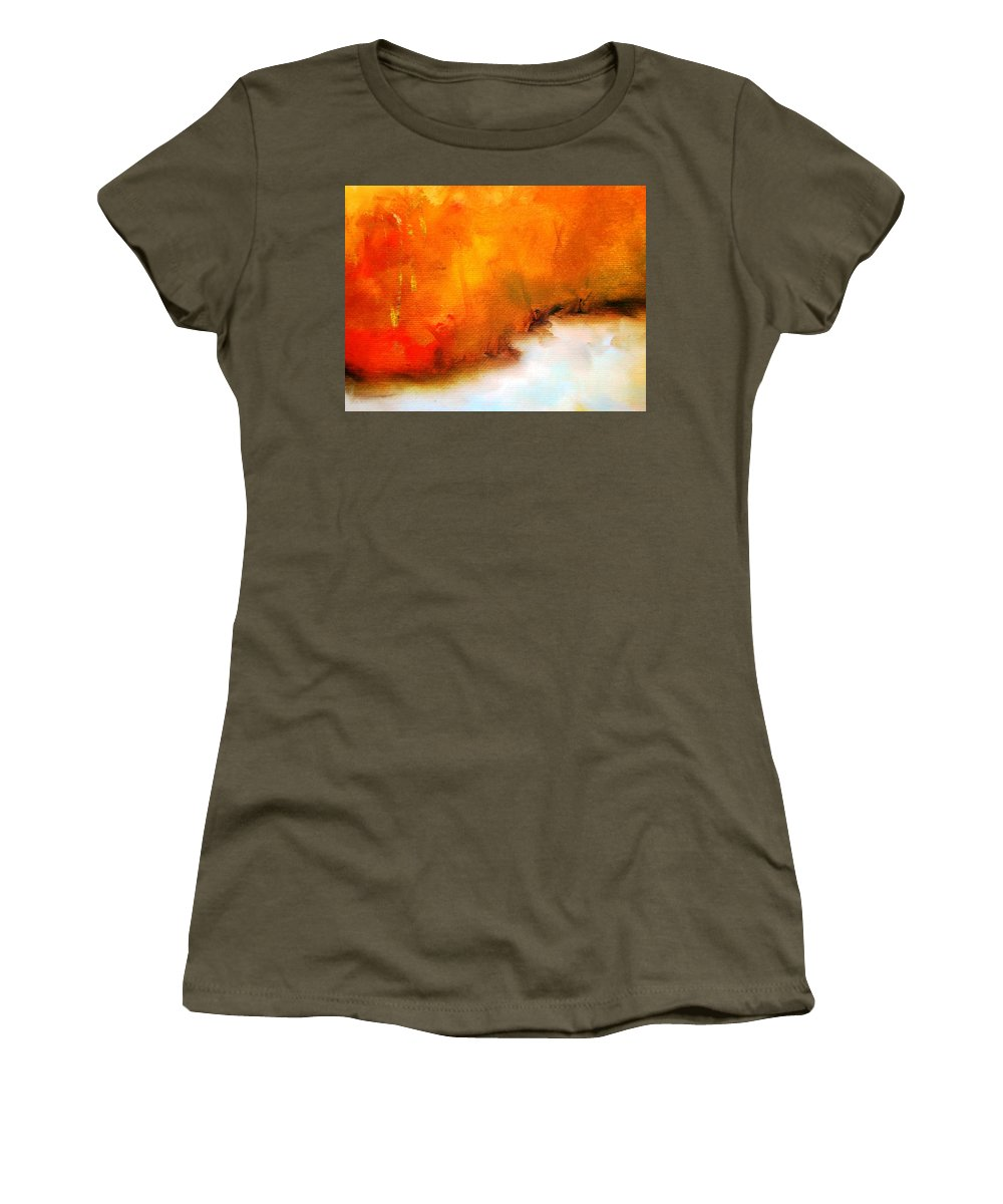 Paintings By Lyle Women's T-Shirt featuring the painting Reflections by Lord Frederick Lyle Morris - Disabled Veteran
