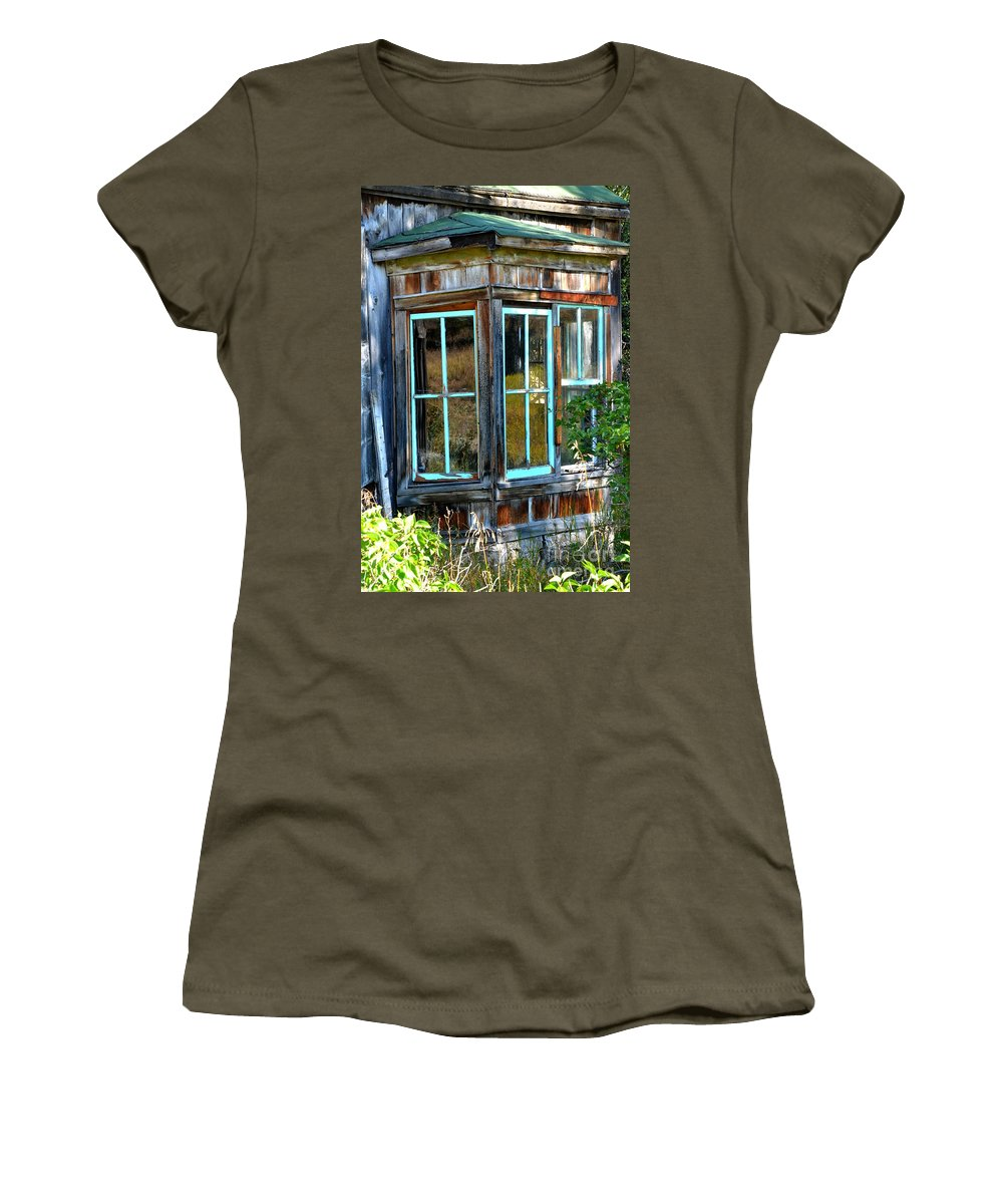 Abstract Women's T-Shirt featuring the photograph Slightly Askew by Lauren Leigh Hunter Fine Art Photography