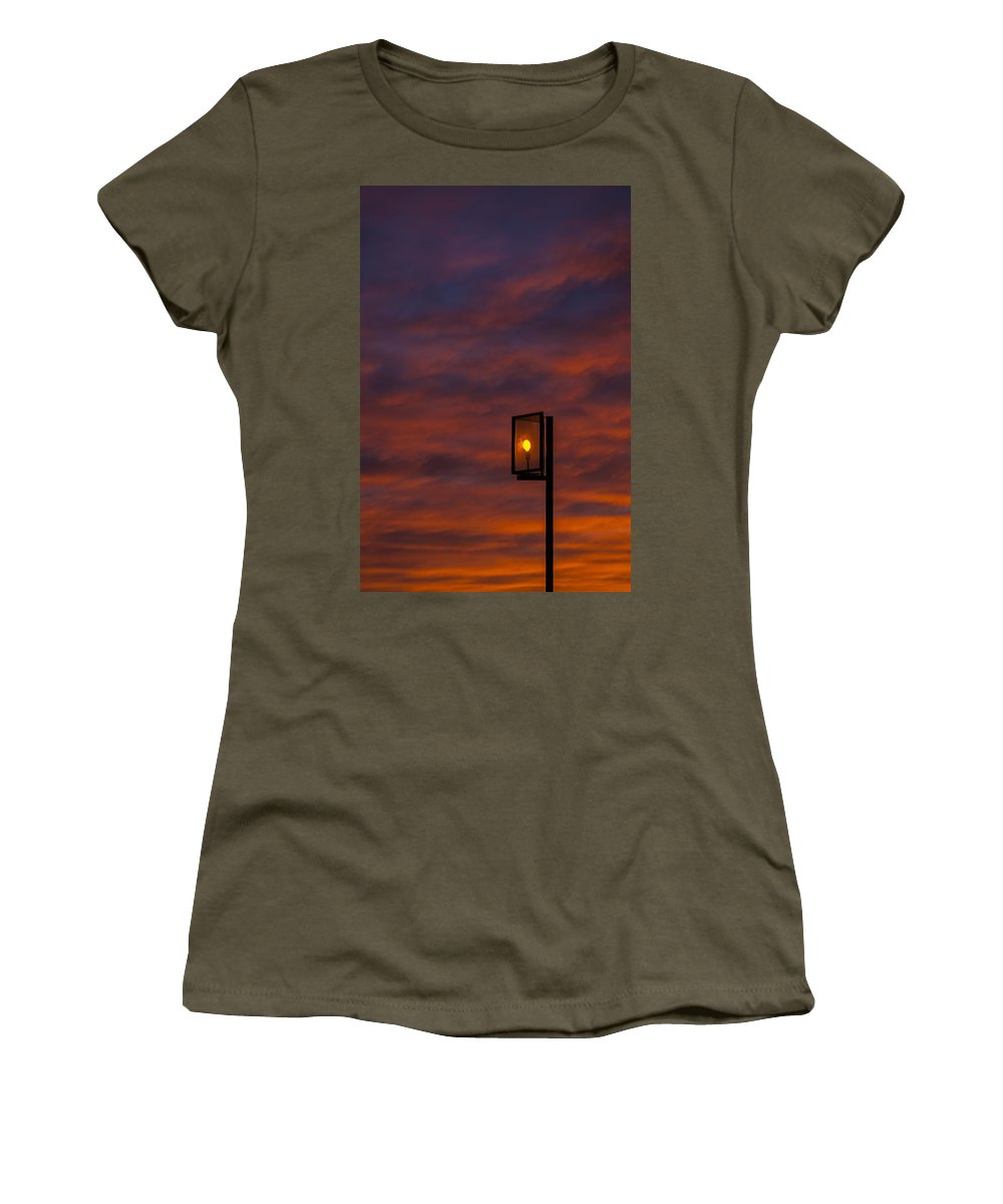 Sun Women's T-Shirt (Athletic Fit) featuring the photograph Sunset by Paulo Goncalves