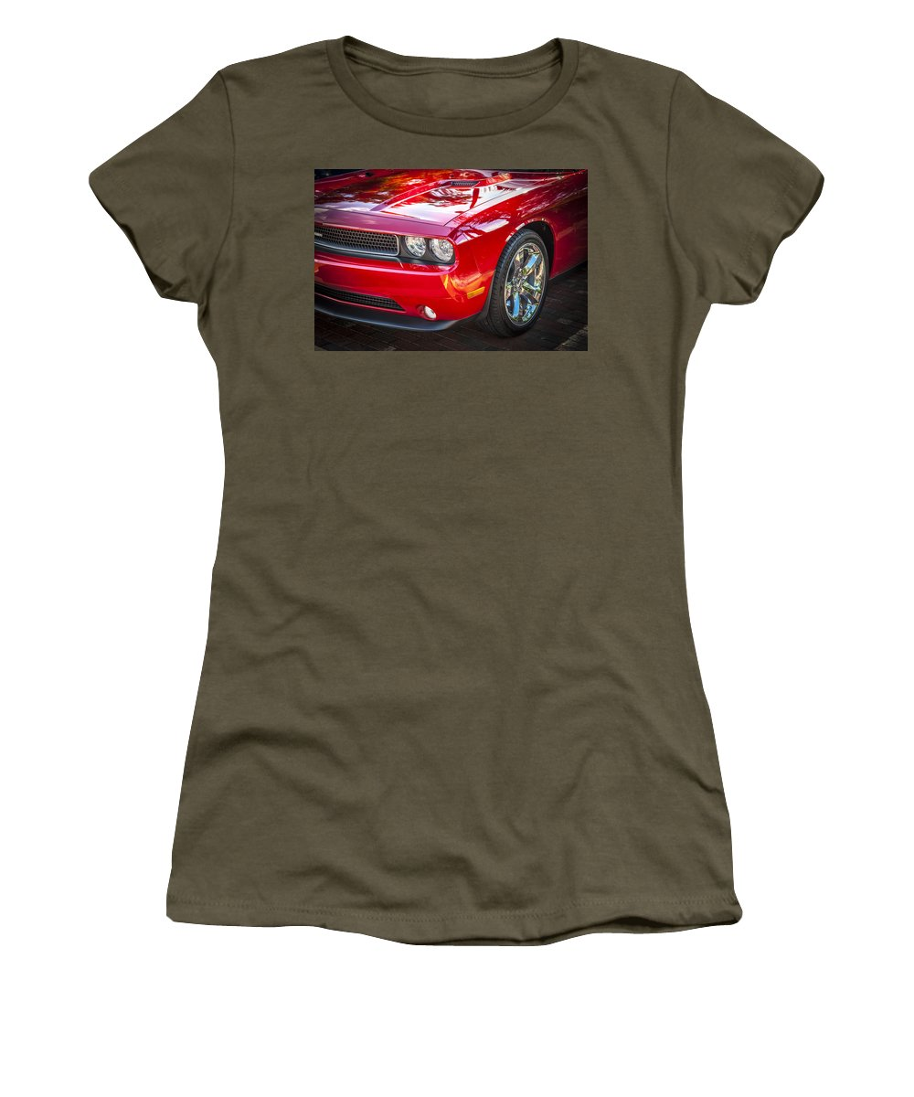Dodge Women's T-Shirt featuring the photograph 2013 Dodge Challenger by Rich Franco