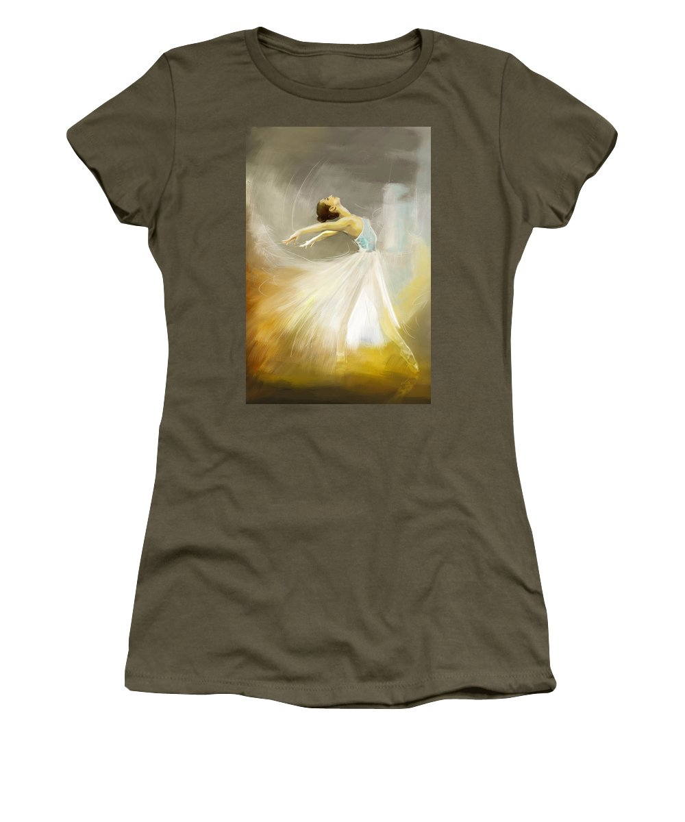 Catf Women's T-Shirt featuring the painting Ballerina by Corporate Art Task Force