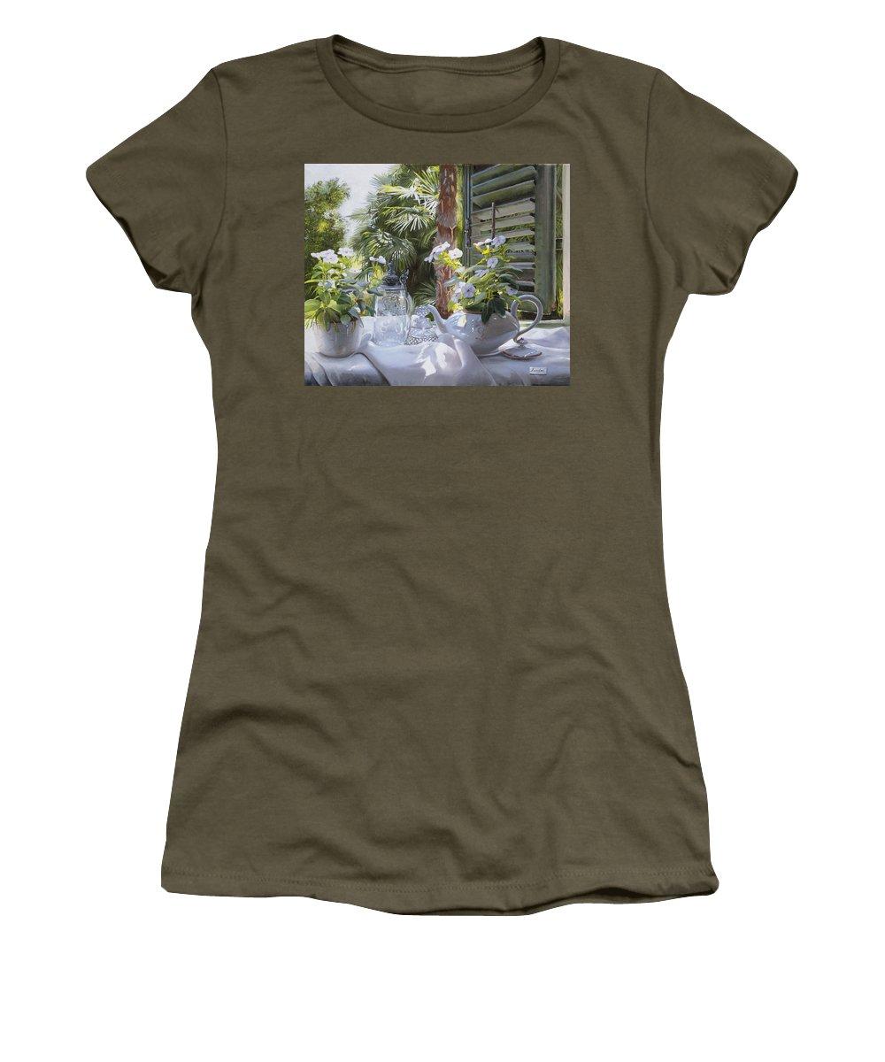 Still Life Women's T-Shirt featuring the painting Il Boccale Di Birra by Danka Weitzen