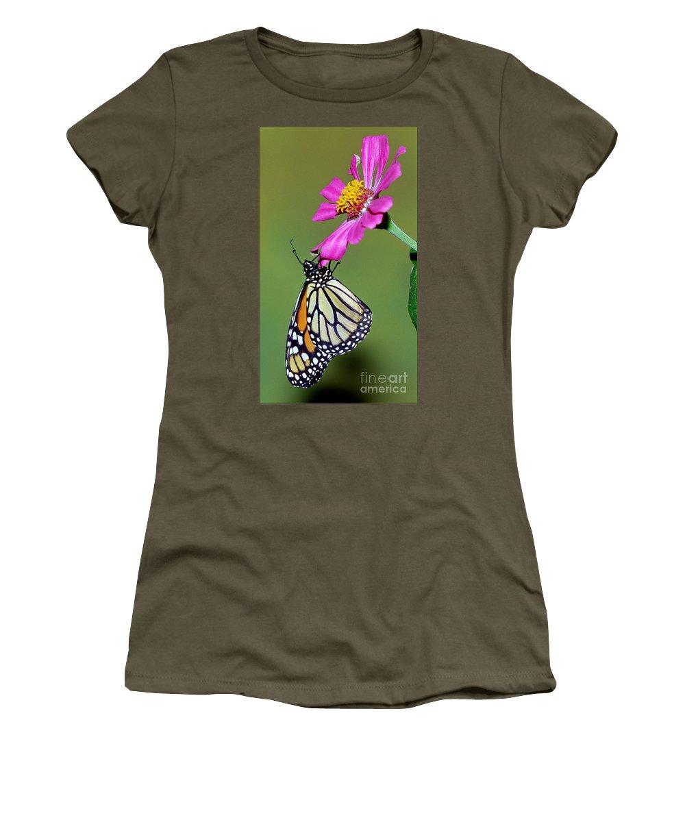 Monarch Women's T-Shirt featuring the photograph Monarch Butterfly by Millard Sharp
