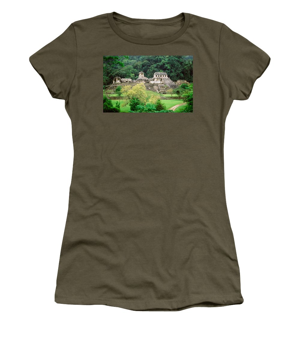 America Women's T-Shirt featuring the digital art Palenque City by Roy Pedersen