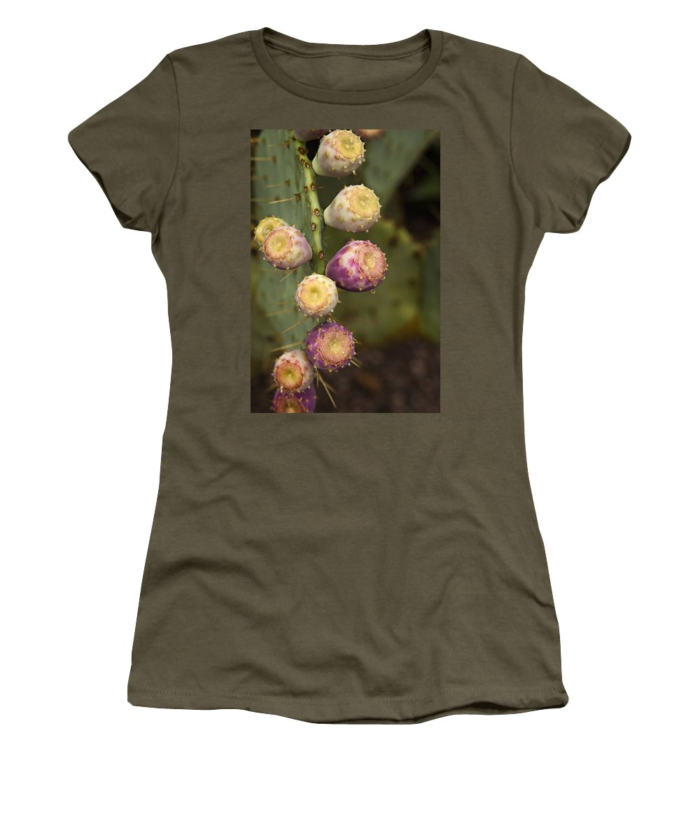 Prickly Pear Cactus Women's T-Shirt featuring the photograph Prickly Pear Cactus by Saija Lehtonen