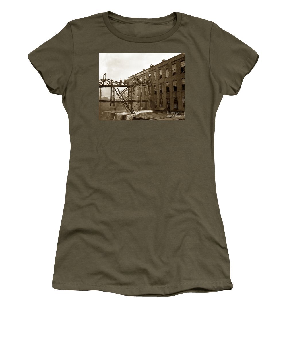 Rochester Women's T-Shirt featuring the photograph Rochester Show Case Co. Fire New York State Circa 1904 by California Views Archives Mr Pat Hathaway Archives