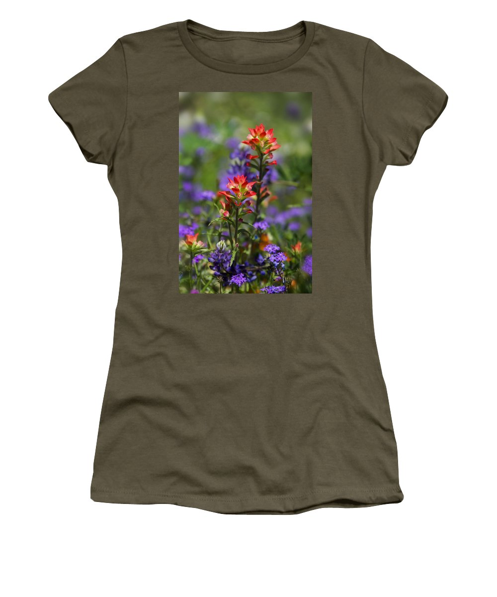 Spring Women's T-Shirt (Athletic Fit) featuring the photograph Spring Flowers by Saija Lehtonen