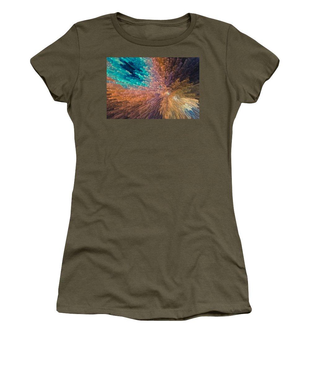 3d Women's T-Shirt featuring the digital art 3d Art by David Pyatt