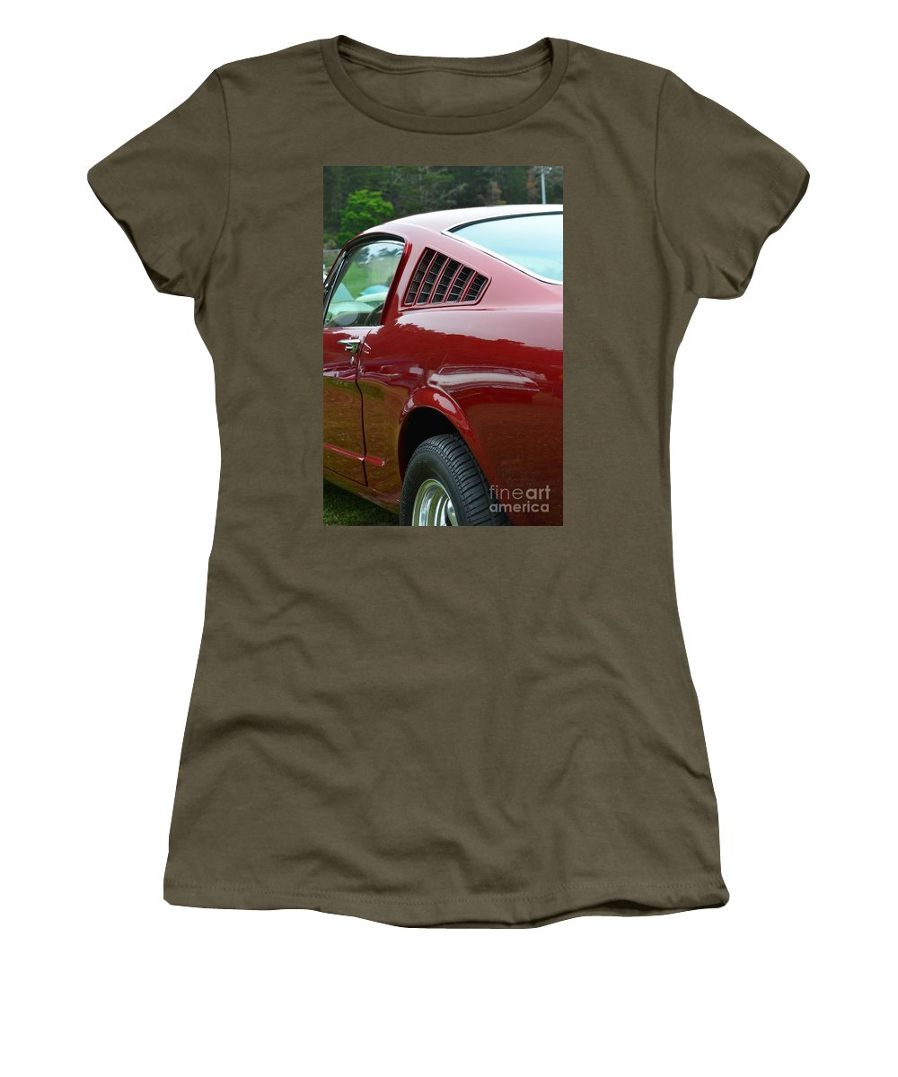 Red Women's T-Shirt featuring the photograph Classic Mustang by Dean Ferreira