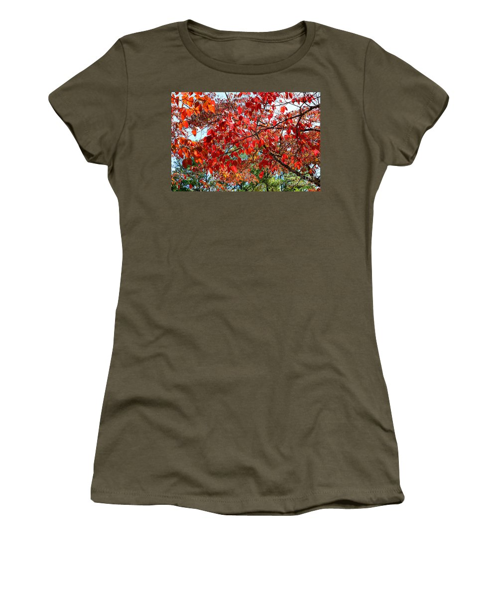 Autumn Women's T-Shirt featuring the photograph Autumn Leaves by Rafael Salazar