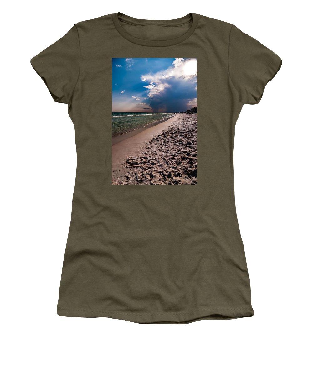 Activities Women's T-Shirt featuring the photograph Destin Florida Beach Scenes by Alex Grichenko