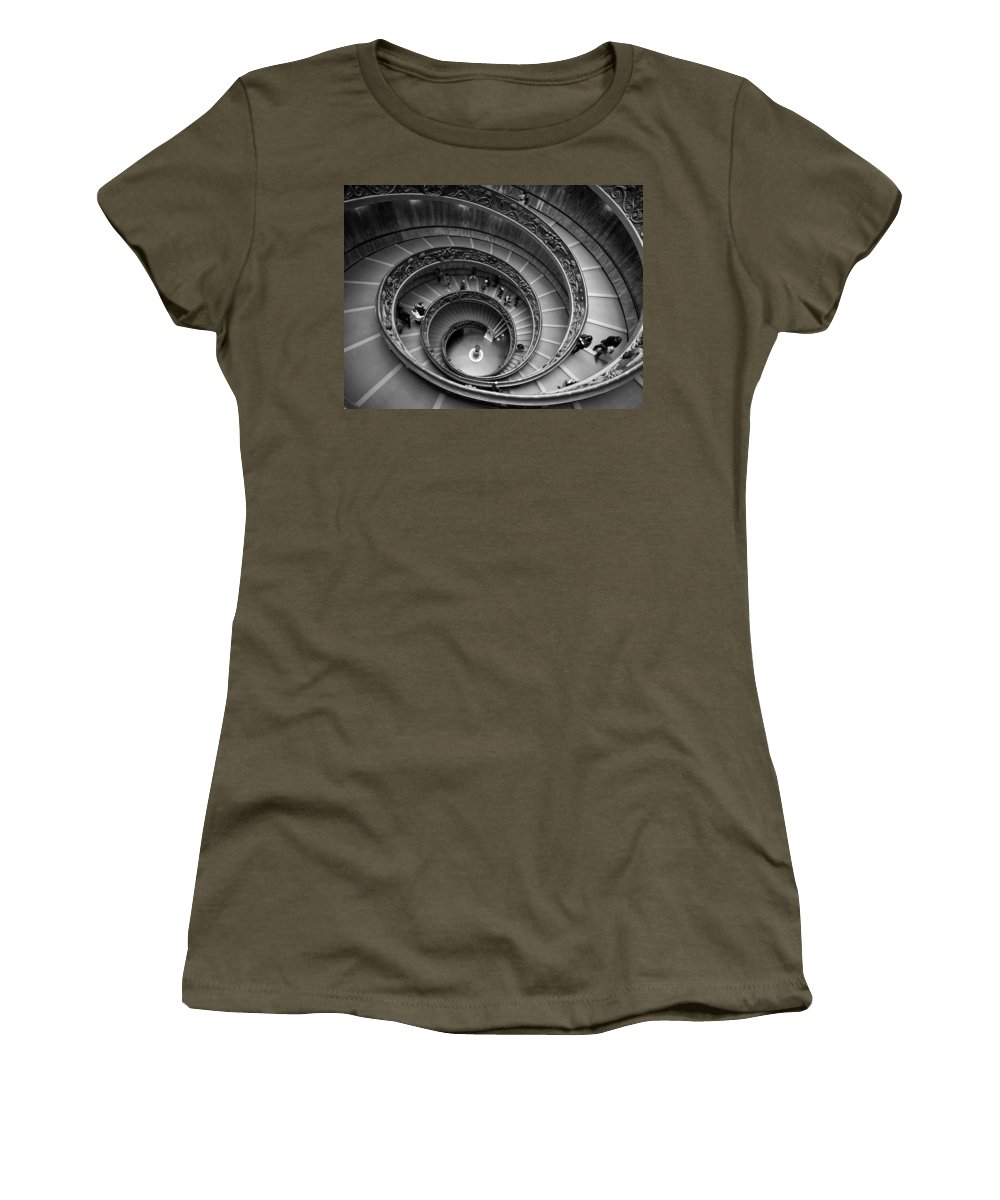 2013. Women's T-Shirt featuring the photograph The Vatican Stairs by Jouko Lehto